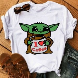 Baby yoda I love coffee
